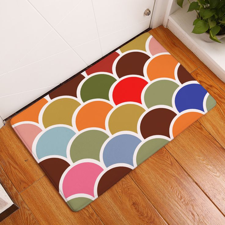 2017 New Home Decor  Geometry Print Carpets Non-slip Kitchen Rugs for Home Living Room Floor Mats