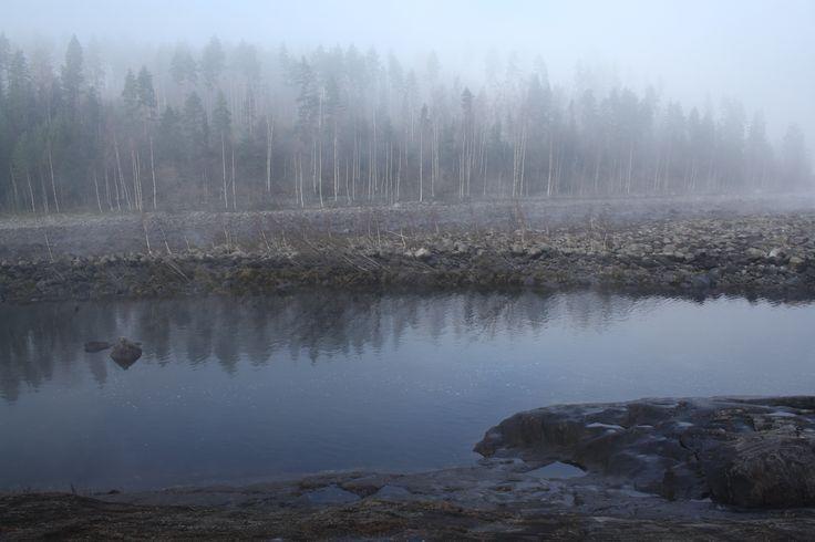 Frozen fog and Ångermanälven