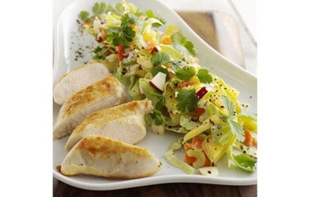 Eksotisk coleslaw med kylling - fit living