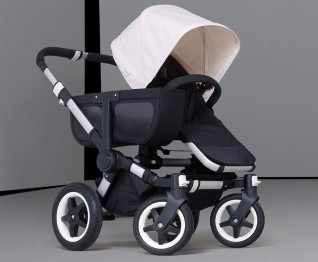 Double stroller of any kind or a single seat with a spot for shopping bags....GENIUS!!!!!!