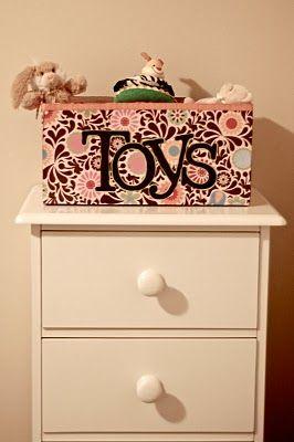 cute way to reuse a diaper box