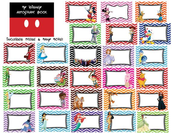 Disney Autograph Book Printables Over 50 by TheMommyMermaid