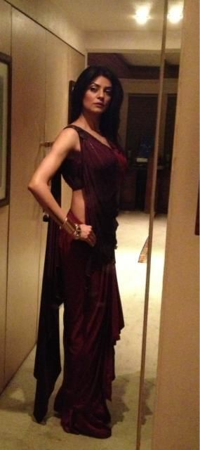 Sushmita Sen in a beautiful saree  She looks amazing as always ❤