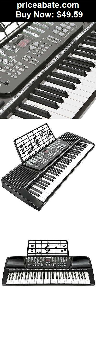 Musical-Instruments: 61 Key Electronic Music Electric Keyboard Piano - Black - BUY IT NOW ONLY $49.59