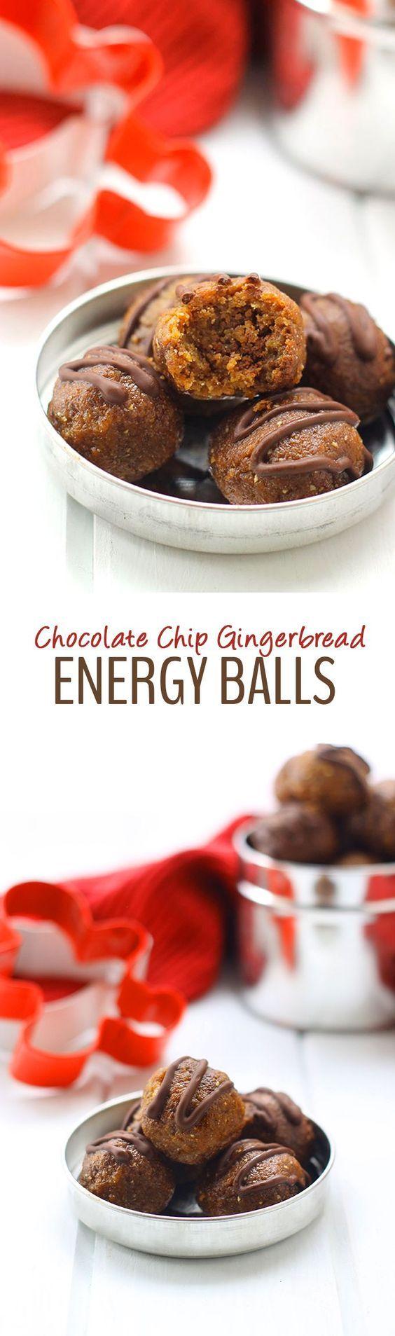 nice Chocolate Chip Gingerbread Energy Balls