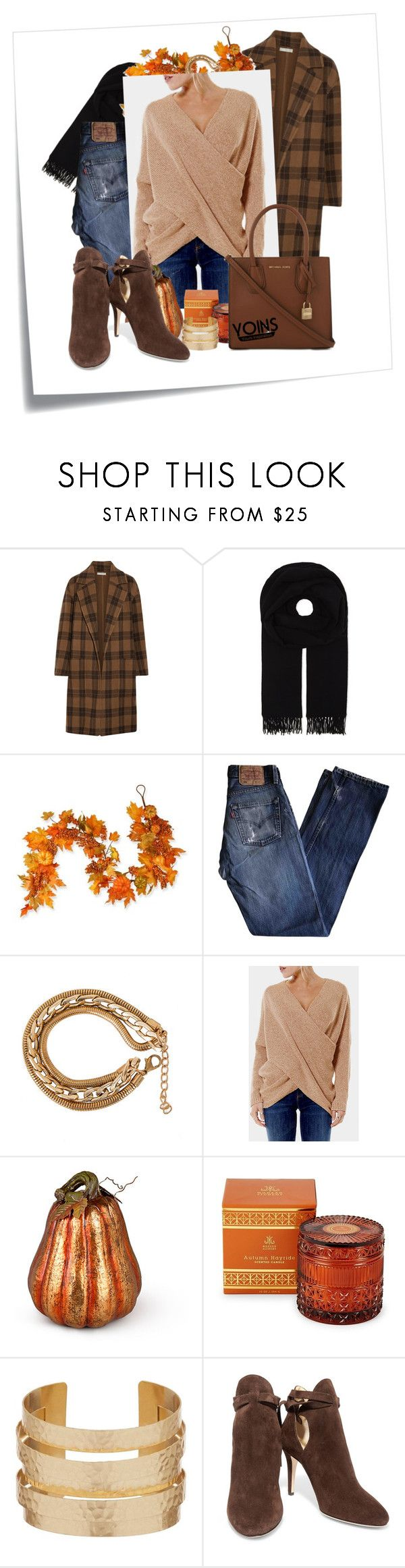 """[24/31] Heavy"" by decimaollin ❤ liked on Polyvore featuring Post-It, Vince, Canada Goose, National Tree Company, Levi's, Improvements, D.L. & Co., Jimmy Choo and MICHAEL Michael Kors"