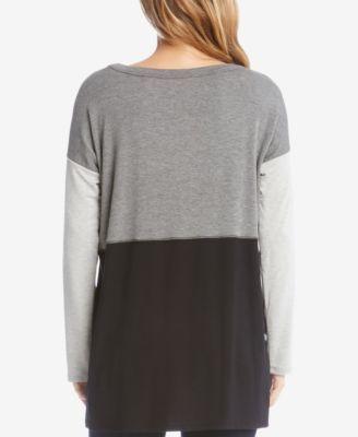 Karen Kane Colorblocked Top - Gray XL