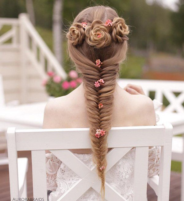 updos for long hair - If you need to shine on any occasion, choose this hairstyle