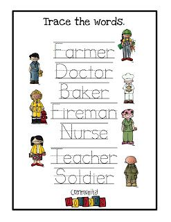 Preschool Printables: Community Helpers  -Repinned by Totetude.com