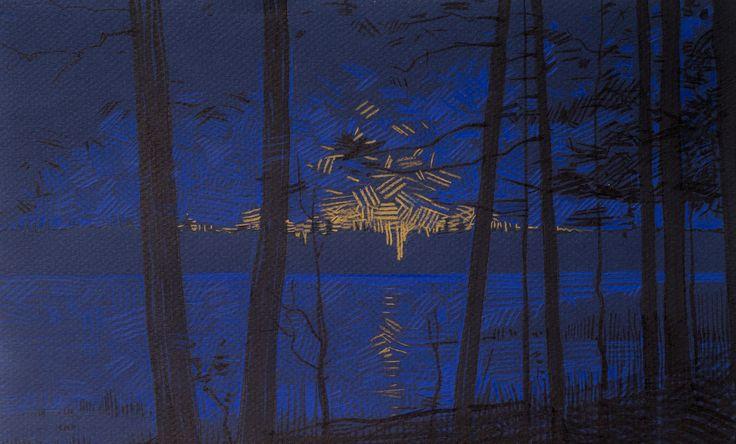 #night #landscape #sketch