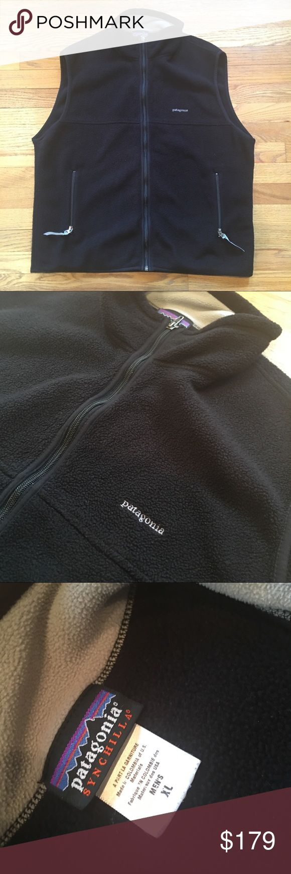 Mens Patagonia Synchilla Black Fleece Vest - XL Mens Patagonia Synchilla Black Fleece Vest - XL - Pre-owned In Excellent/Mint Condition.  May be new without tags. Patagonia Jackets & Coats Vests