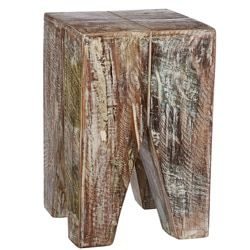 Weathered Reclaimed Wood Tanki Table | Overstock.com Shopping - The Best Deals on Coffee, Sofa & End Tables