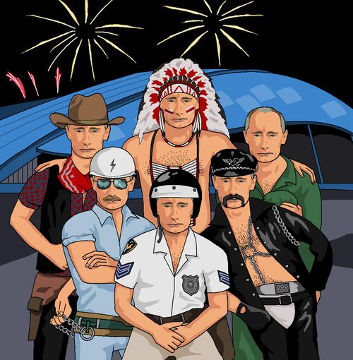 Dear Jim, please can you do Vladimir Putin as every member of the Village People?