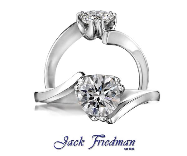 Diamond solitaire ring from The Riviera Collection jackfriedman.co.za