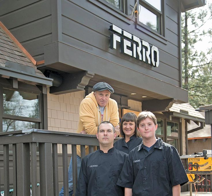 Frank Ferro on top, Lori Ferro in center, and Chef Geoff Brown and - bar manager