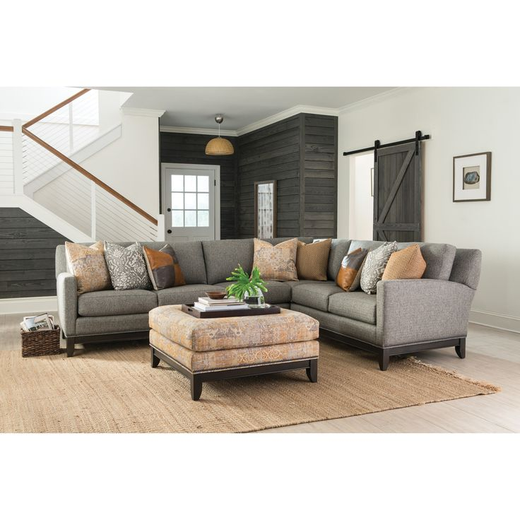 238 Transitional Sectional Sofa With Tapered Legs By Smith Brothers. Living  Room ...