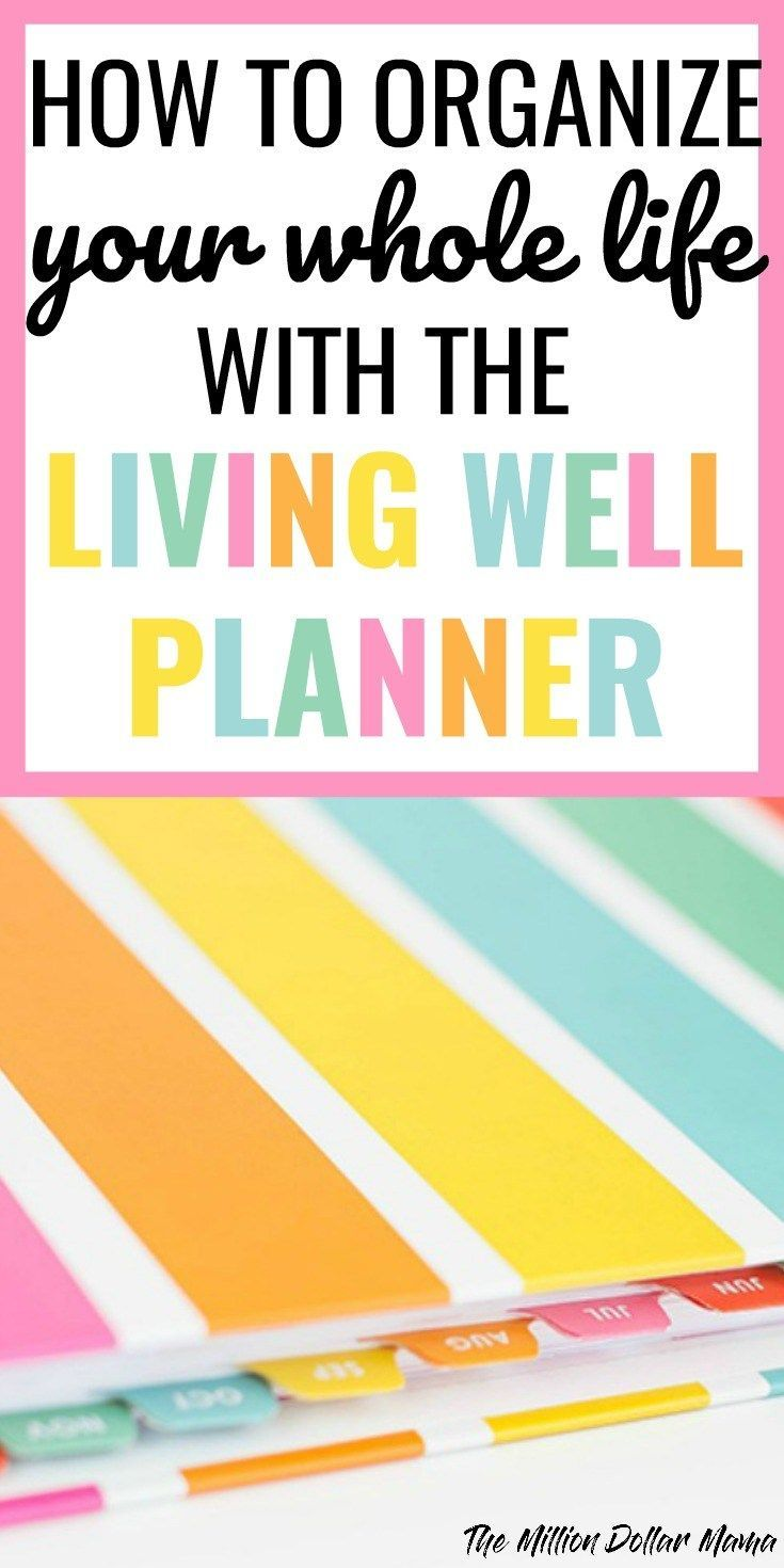 How To Stayanized With The Living Well Planneranize Your Lifehow