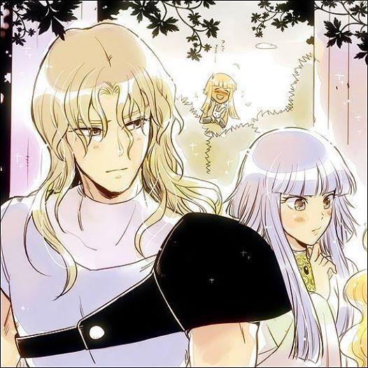"""Hagen- """"Freya, olha o que achei?!!! Um coelho!!!! Siegfried- """"É sério isso Hilda, o guerreiro que você quer que proteja vocês duas??!!"""" Hilda- """"Sieg..."""""""
