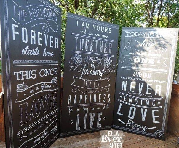 Меловые доски для свадьбы