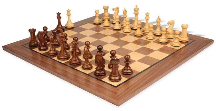 New Exclusive Staunton Chess Set In Babul Wood U0026 Boxwood With Walnut Chess  Board   3