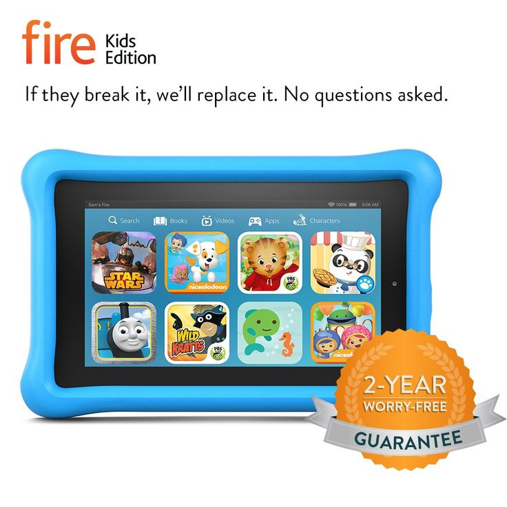 "Maybe for James' third bday - Fire Kids Edition, 7"" Display, Wi-Fi, 8 GB, Blue Kid-Proof Case"