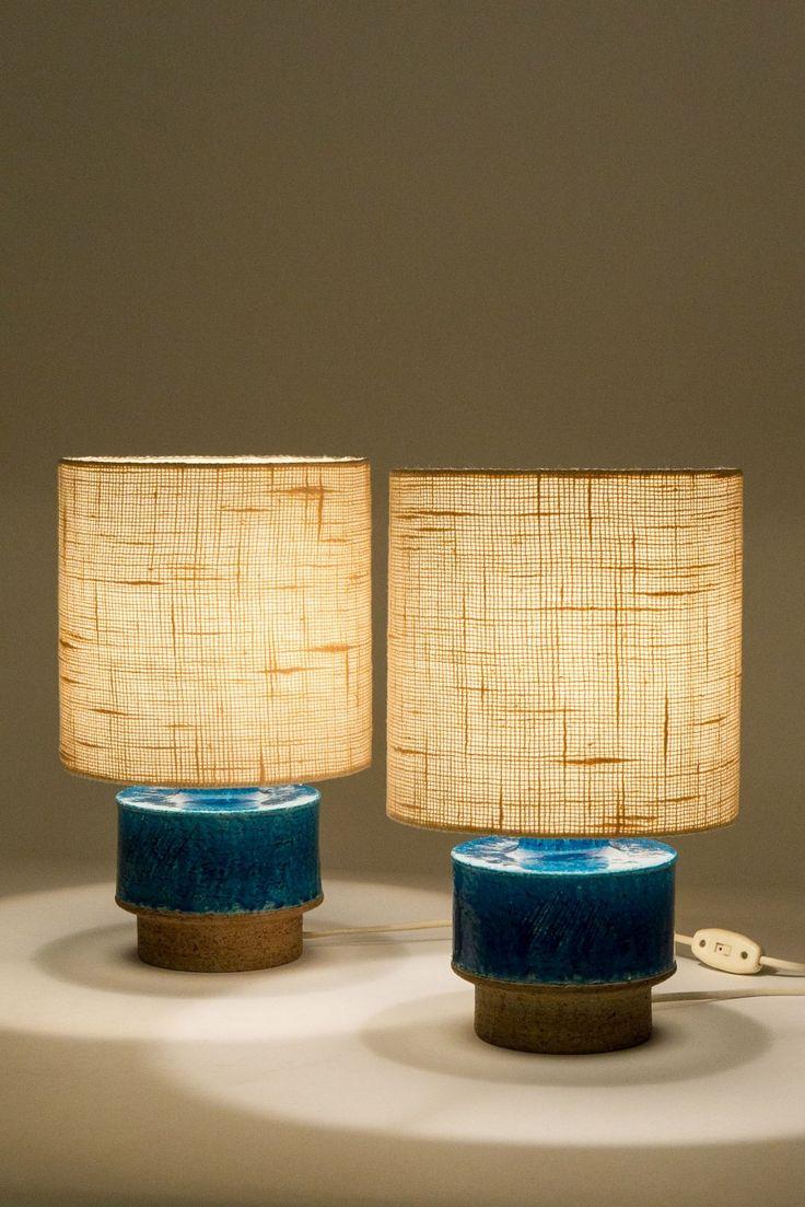 Ceramic Table Lamps by Atelje Luree, 1960s.