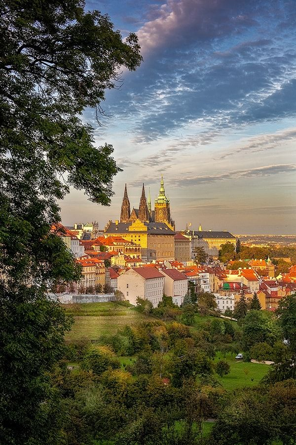 Prague Castle & St.Vitus Cathedral in the Evening by Petr Kepka / 500px