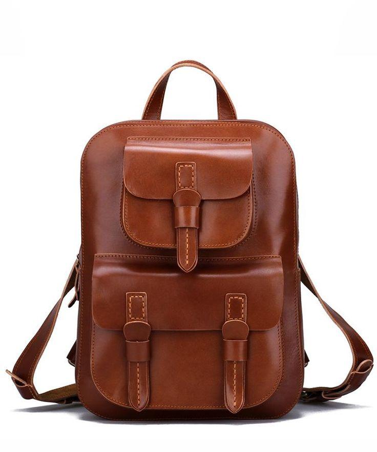 Backpacks for Girls Full Grain Handmade Leather Backpack Cool Backpacks CF40