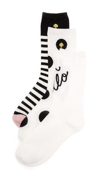 KATE SPADE Camel Sock Set. #katespade #set