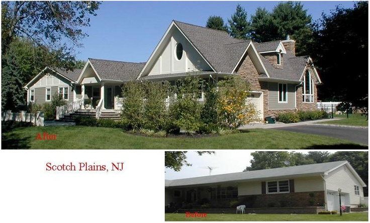 Complete exterior renovation with family room addition