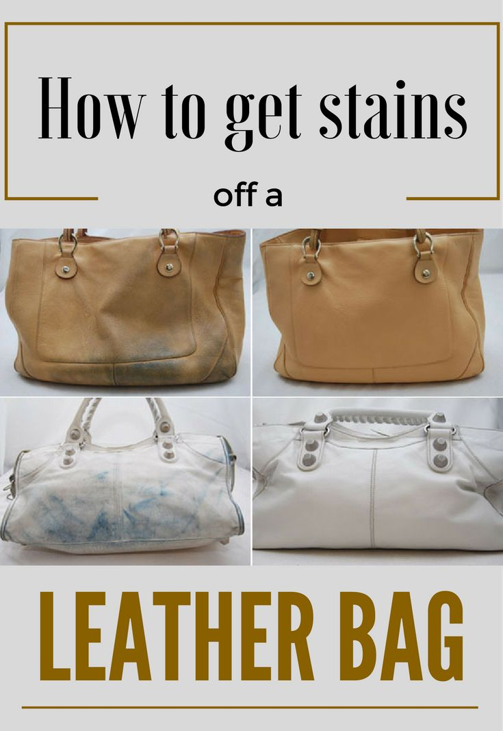 Learn how to get stains off a leather bag.