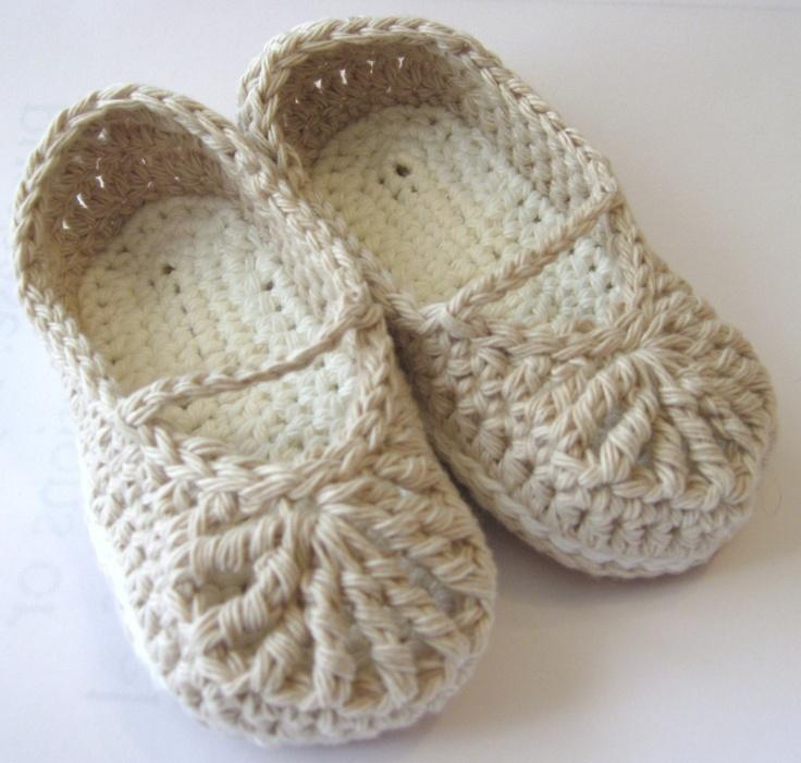 Crochet Baby Organic Cotton Mary Jane by HeathersHobbies on Etsy