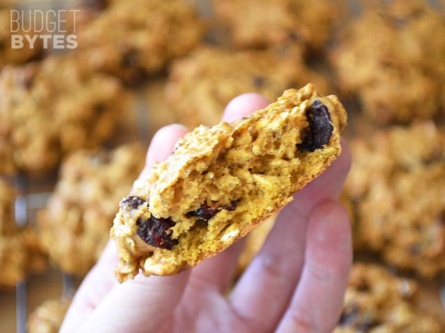 Oatmeal Pumpkin Cookies | Recipe | Dried cranberries ...