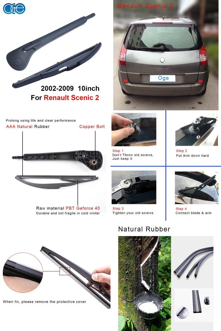 [Visit to Buy] Oge 10'' Rear Wiper Arm And Blade For Renault Scenic 2 2002 2003 2004 2005 2006 2007 2008 2009 Windscreen Car Accessories #Advertisement