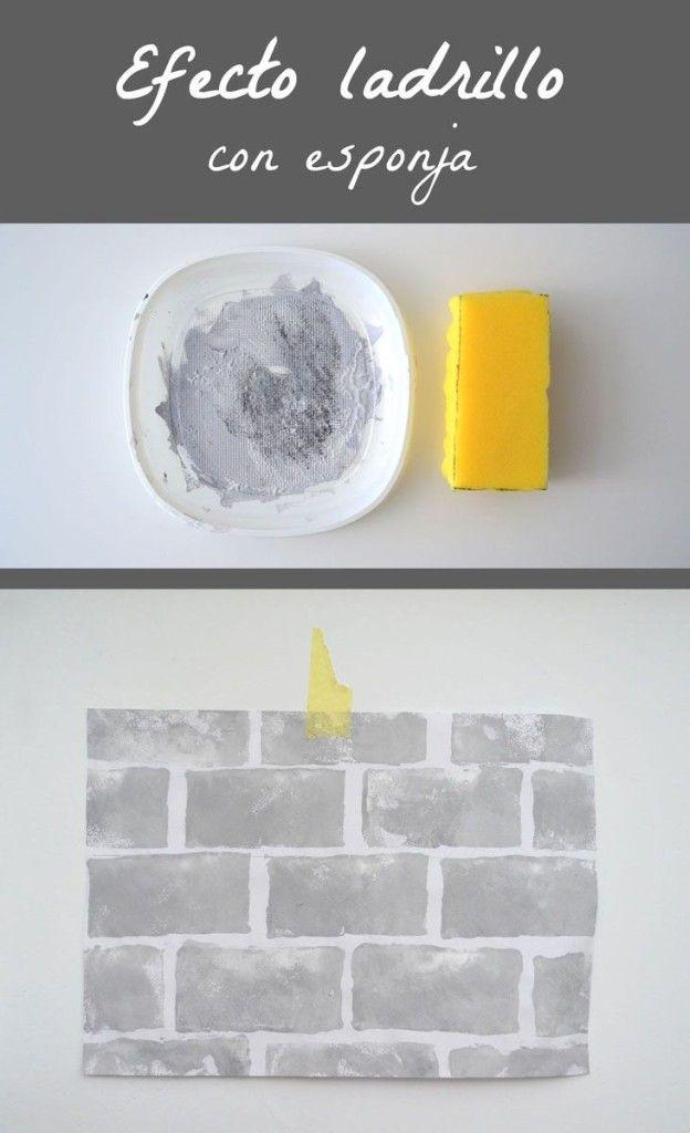 Cómo pintar una pared con efecto ladrillo - Departamento de Ideas