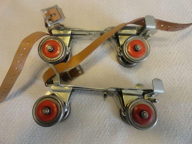 VTG Retro Toy 1950s UNION BRUNSWICK Metal Roller Skates No 5 | Flickr - Photo Sharing!