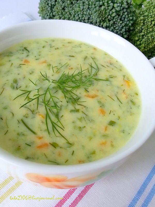 Суп из брокколи с сыром и Творожные пончики