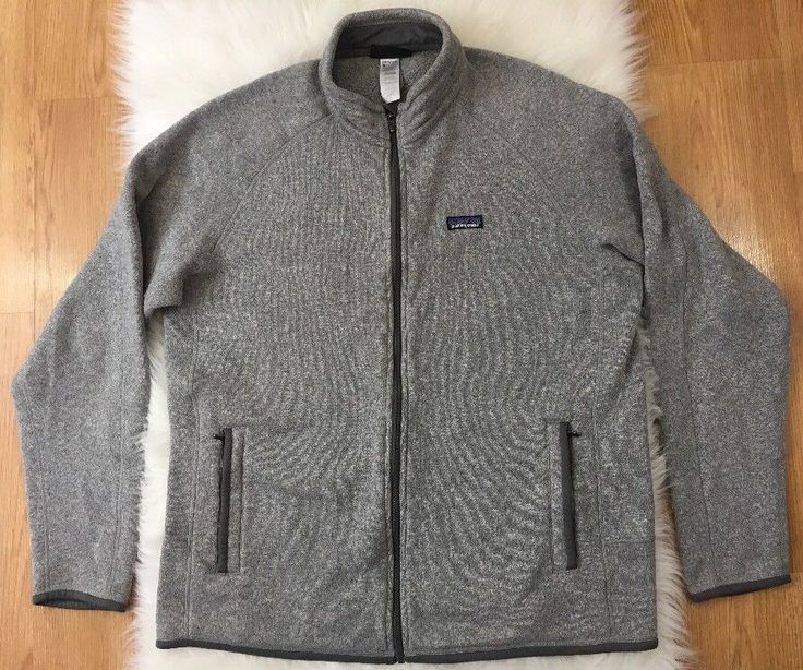 Patagonia Mens Jacket XL Better Sweater Gray Knit Fleece Full Zip Up  | eBay