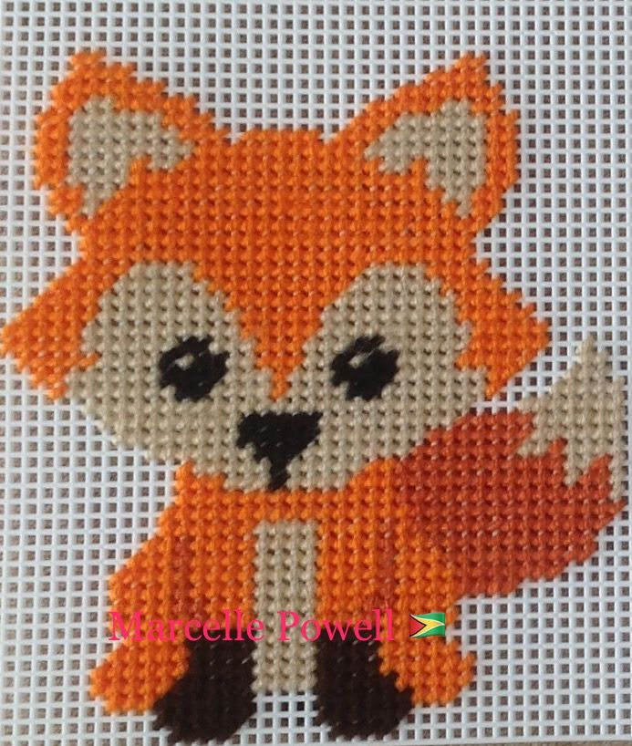 Plastic Canvas Baby Fox by Marcelle Powell ❤️
