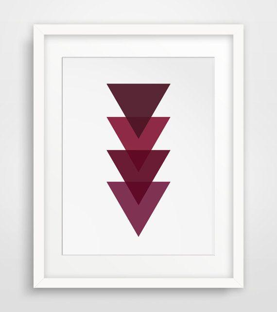 Dark Red, Burgundy Print, Maroon Print, Dark Red Print, Burgundy Wall Art, Maroon Art, Wine Color, Crimson Art, Magenta Art