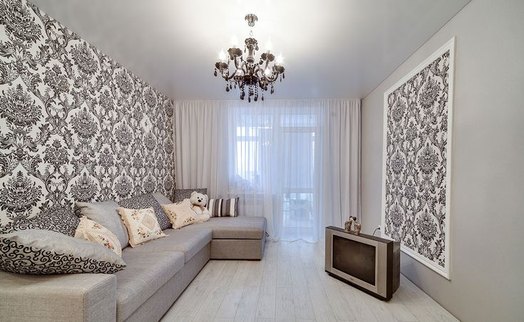 Сатиновый серый потолок