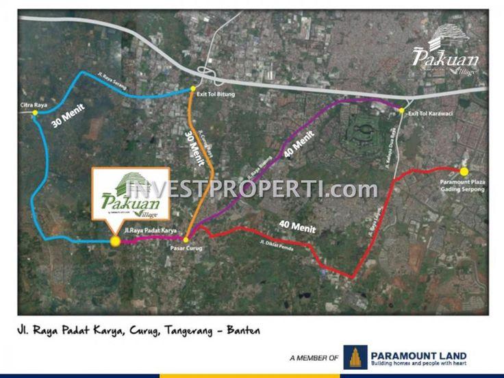 Peta Lokasi Pakuan Village.