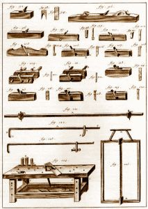 Looking back at the woodworking tools and equipment used by America's 17th Century woodworking ...