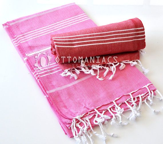 Bath Body Towels 2 Pcs Natural Throw Home Decor by Ottomaniacs
