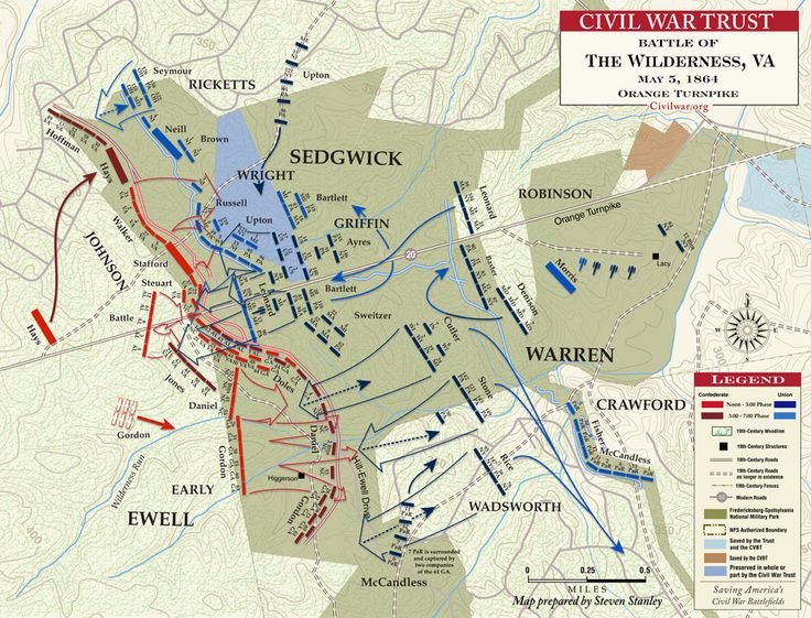 Battle of The Wilderness - Orange Turnpike - May 5, 1864