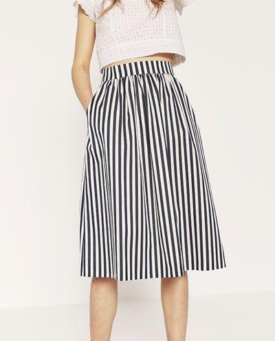 Striped skirt Zara