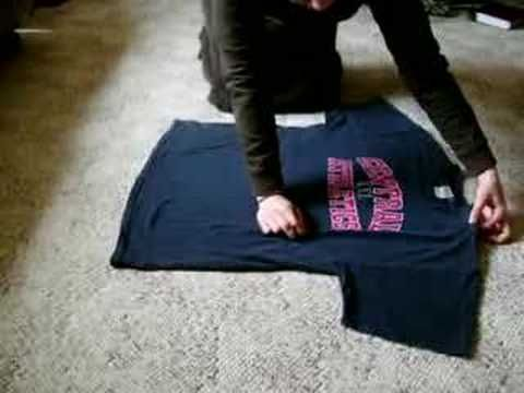 Japanese T-Shirt Folding Technique (English translation)