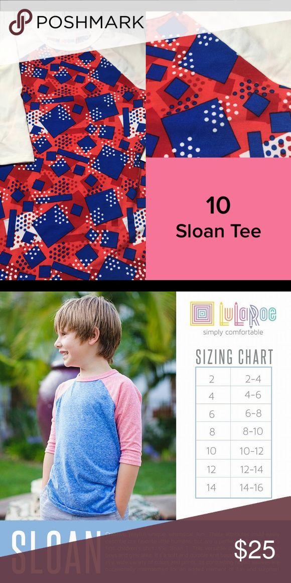 LuLaRoe Kids Size 10 Sloan Top New with tags LuLaRoe Shirts & Tops