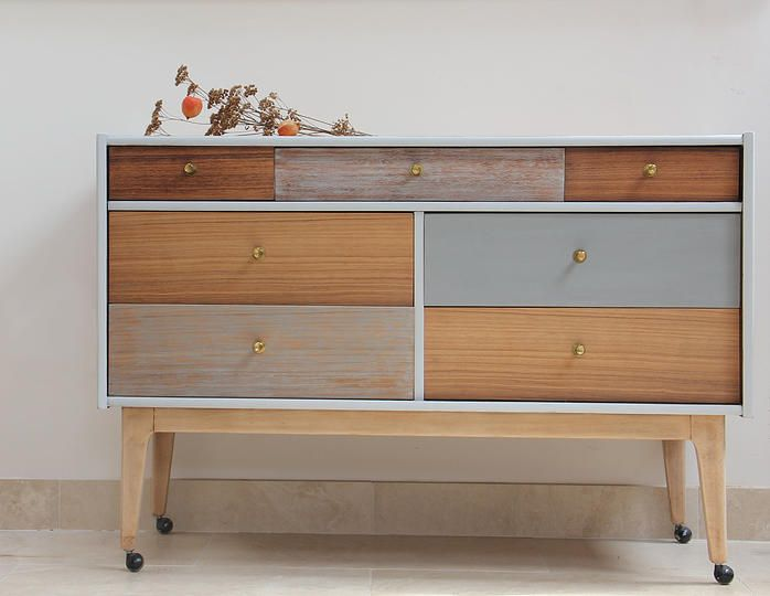 bespoke upcycled mid century retro furniture sideboard writing bureau chair bookcase dressing drawer
