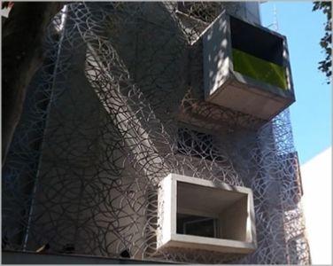 facade en découpe laser aluminium